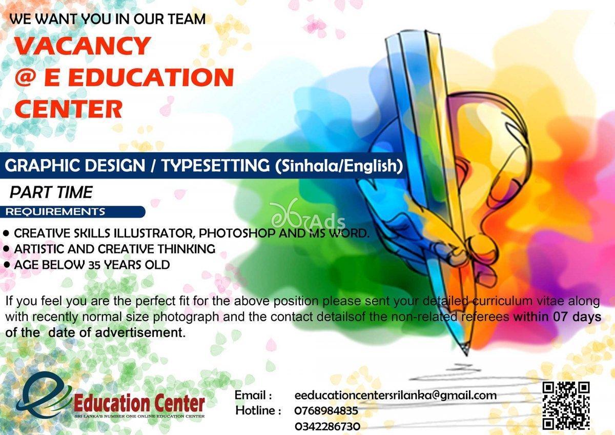 Graphic Design, Typesetting (Sinhala/ English) Part Time