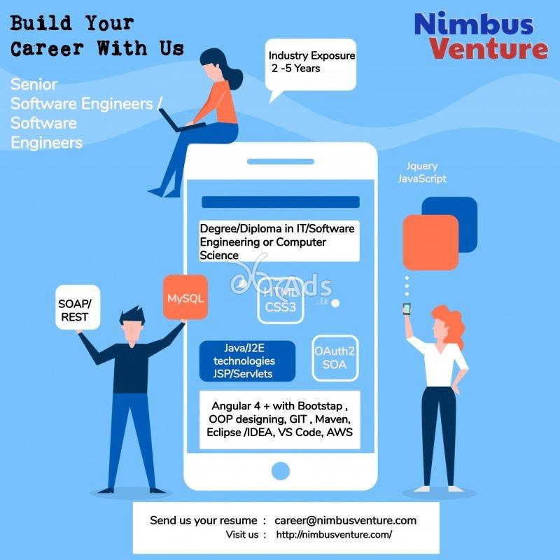 Senior Software Engineers, Sofware Engineers - Nimbus Venture (Pvt) Ltd