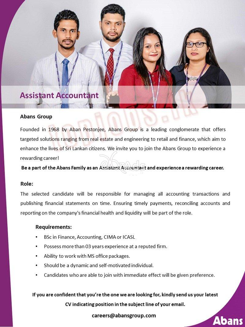 Assistant Accountant - Abance Group