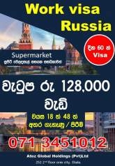 Supermarket assistant in Russia