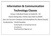 ICT Classes for Grade 6 - 10 English / Sinhala Medium