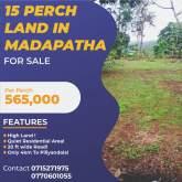 Land for Sale in Madapatha, Piliyandala