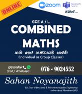 A/L Combined Maths Classes (Online)