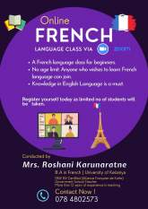 French Class for beginners (online)