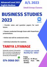 Advanced Level Business Studies Calss 2023