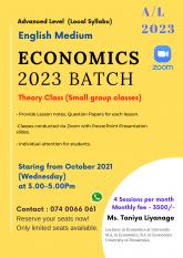 Advanced Level Economics 2023 (Local - English Medium)