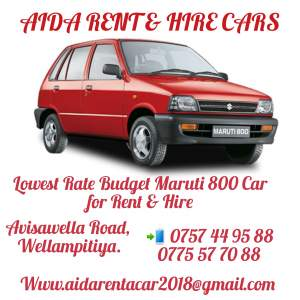 MARUTI 800 CAR FOR RENT & HIRE